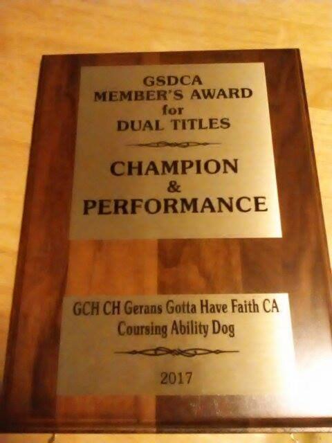 Faith Dual Award